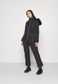 Missguided - SKI QUILTED CORSET SNOW - Overal - black - 0