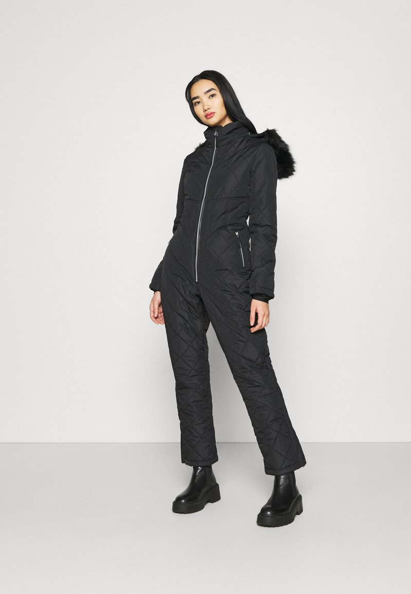 Missguided - SKI QUILTED CORSET SNOW - Overal - black