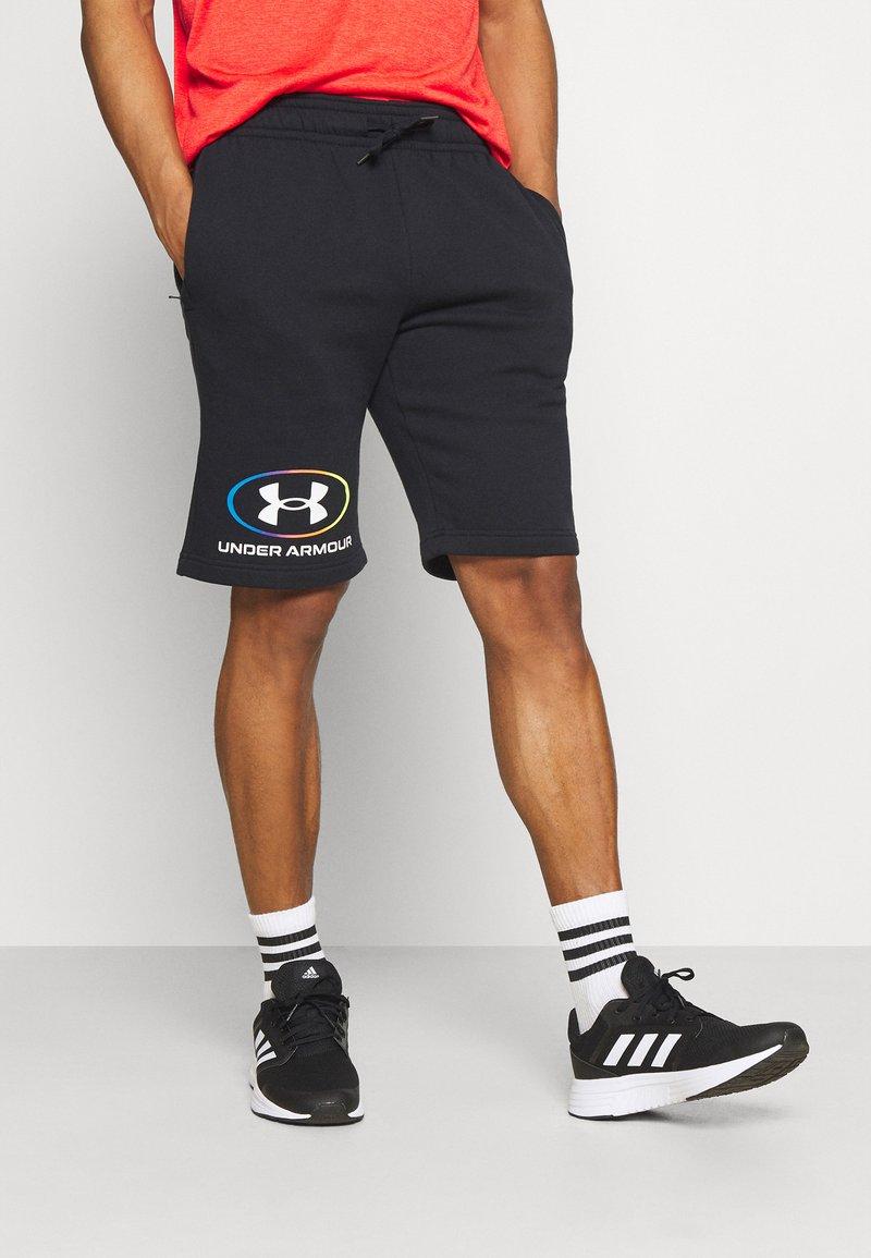 Under Armour - RIVAL LOCKERTAG SHORT - Sports shorts - black