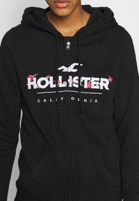 Hollister Co. - SECONDARY TECH CORE - Mikina na zip - black - 5