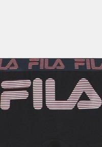 Fila - BOYS LOGO 3 PACK - Boxerky - black - 3