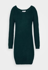 Missguided - AYVAN OFF SHOULDER JUMPER DRESS - Gebreide jurk - forest green - 4