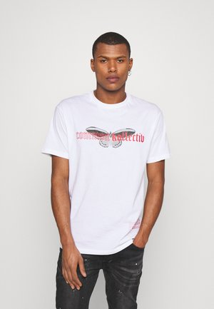 BUTTERFLY UNISEX - T-shirts med print - white