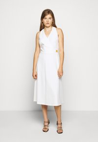 Lauren Ralph Lauren - LUXE TECH DRESS WITH TRIM - Day dress - cream - 0