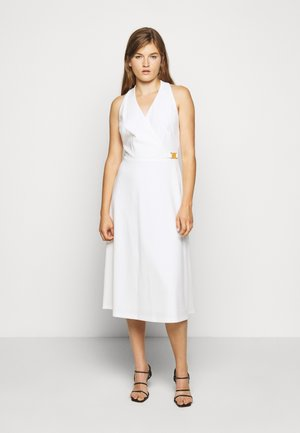 LUXE TECH DRESS WITH TRIM - Day dress - cream