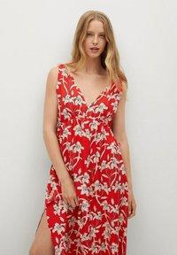 Mango - Day dress - rojo - 0