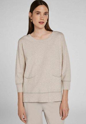 Sweatshirt - light stone