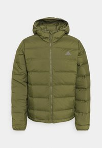HELIONIC HOODED DOWN - Down jacket - focus olive