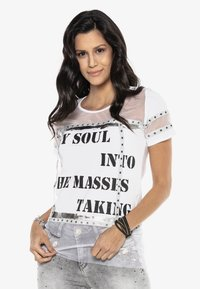 Cipo & Baxx - Print T-shirt - white - 4
