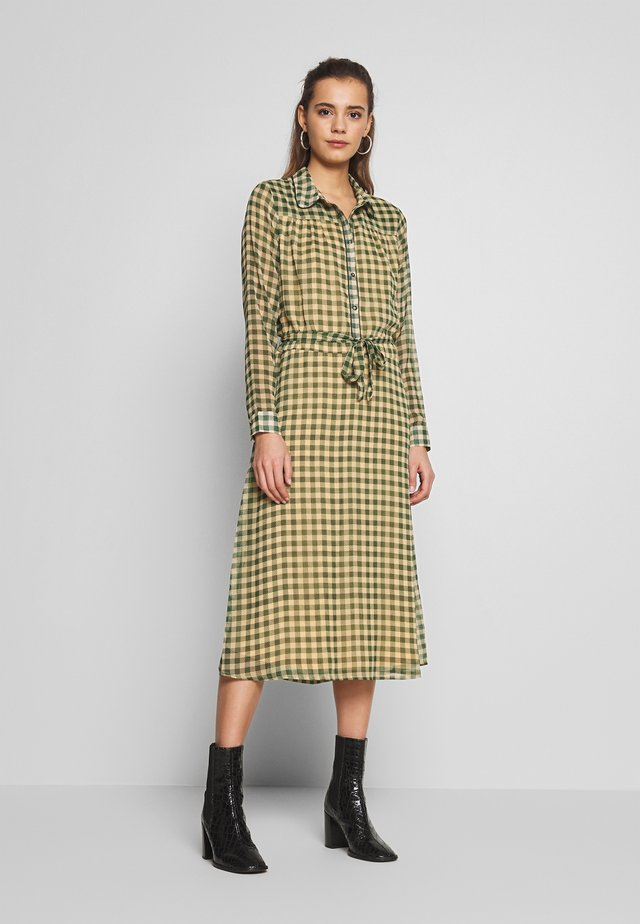 BSMUNTHA - Shirt dress - dark green/beige