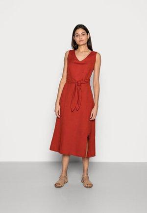 DRESS A-SAHPE LINEN MIDI - Day dress - rooibos orange