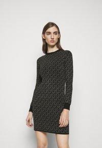 MICHAEL Michael Kors - DOT MINI DRESS - Pouzdrové šaty - concrete - 4