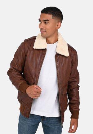 ANDERSEN - Leather jacket - beige