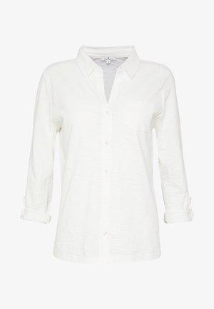T-SHIRT BLOUSE - Button-down blouse - whisper white