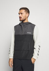 Hummel - AKELLO LOOSE HALF ZIP JACKET - Training jacket - black - 0