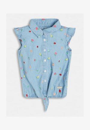 Overhemdblouse - himmelblau