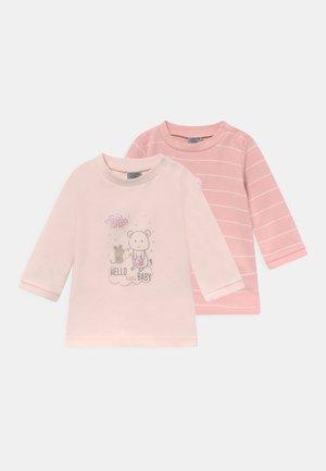 LANGARMSHIRT GIRLS 2 PACK - Long sleeved top - pink