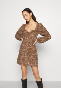 Free People - CALL ME MINI - Day dress - black combo - 0