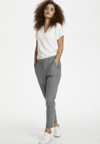 Karen by Simonsen - SYDNEY - Trousers - grey melange - 1