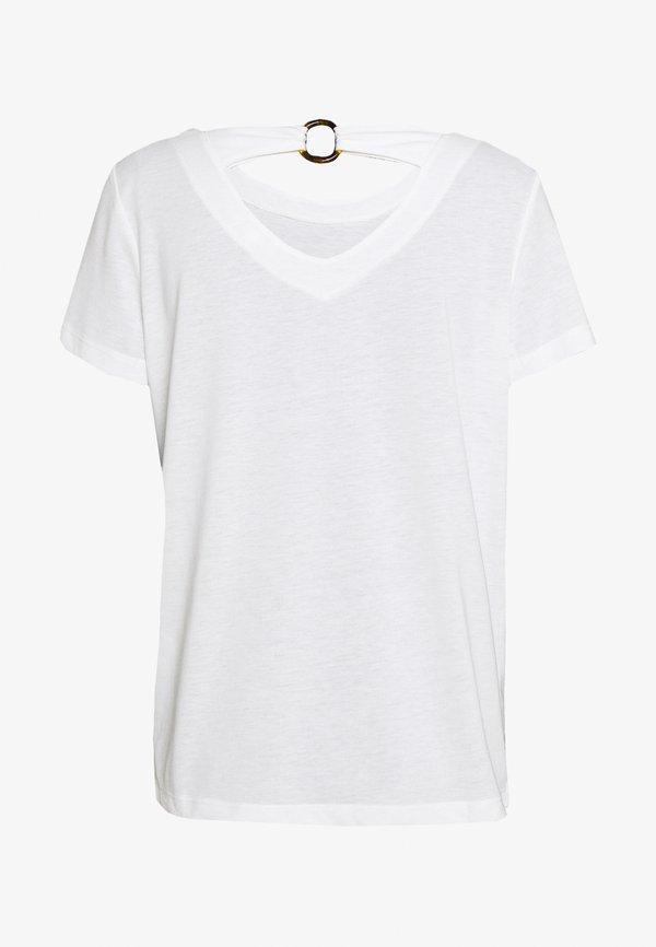 TOM TAILOR T-shirt z nadrukiem - whisper white Kolor jednolity Odzież Damska IMON DP 1