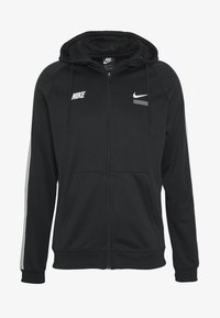 Nike Sportswear - HOODIE - Training jacket - black/lt smoke grey/white - 4