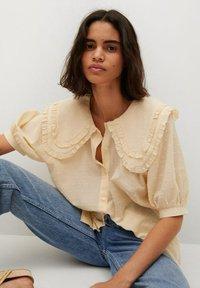 Mango - Button-down blouse - geel - 5