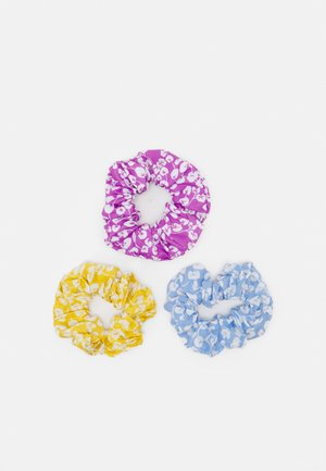 PCINGELISE SCRUNCHIE 3 PACK - Haaraccessoire - kentucky blue/yellow/lilac