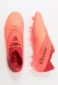 adidas Performance - NEMEZIZ 19.1 FG - Moulded stud football boots - signal coral/core black/red - 1