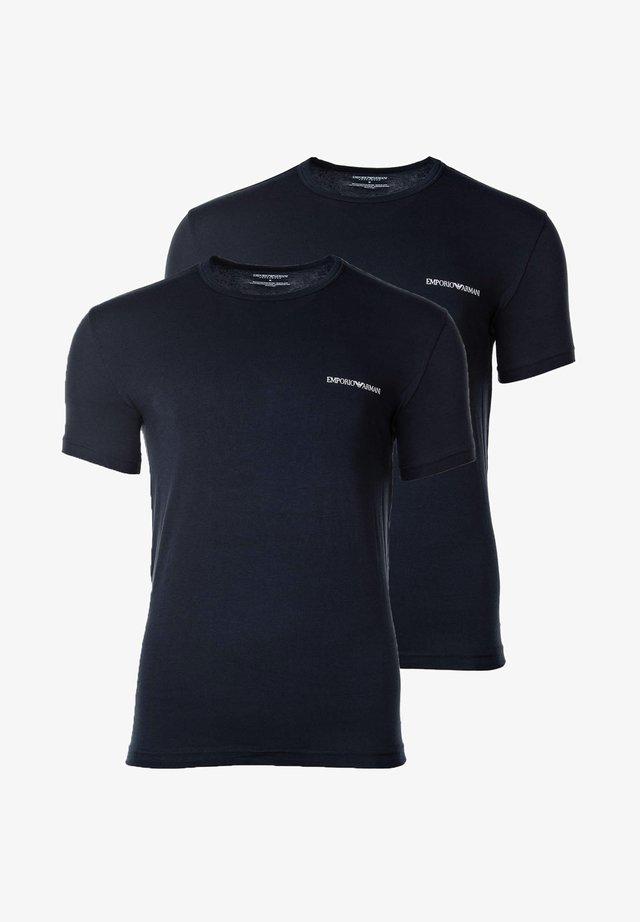 2ER PACK - T-shirt con stampa - marine