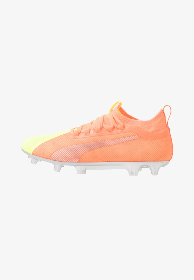 ONE 20.2 FG/AG - Moulded stud football boots - energy peach/fizzy yellow/aged silver