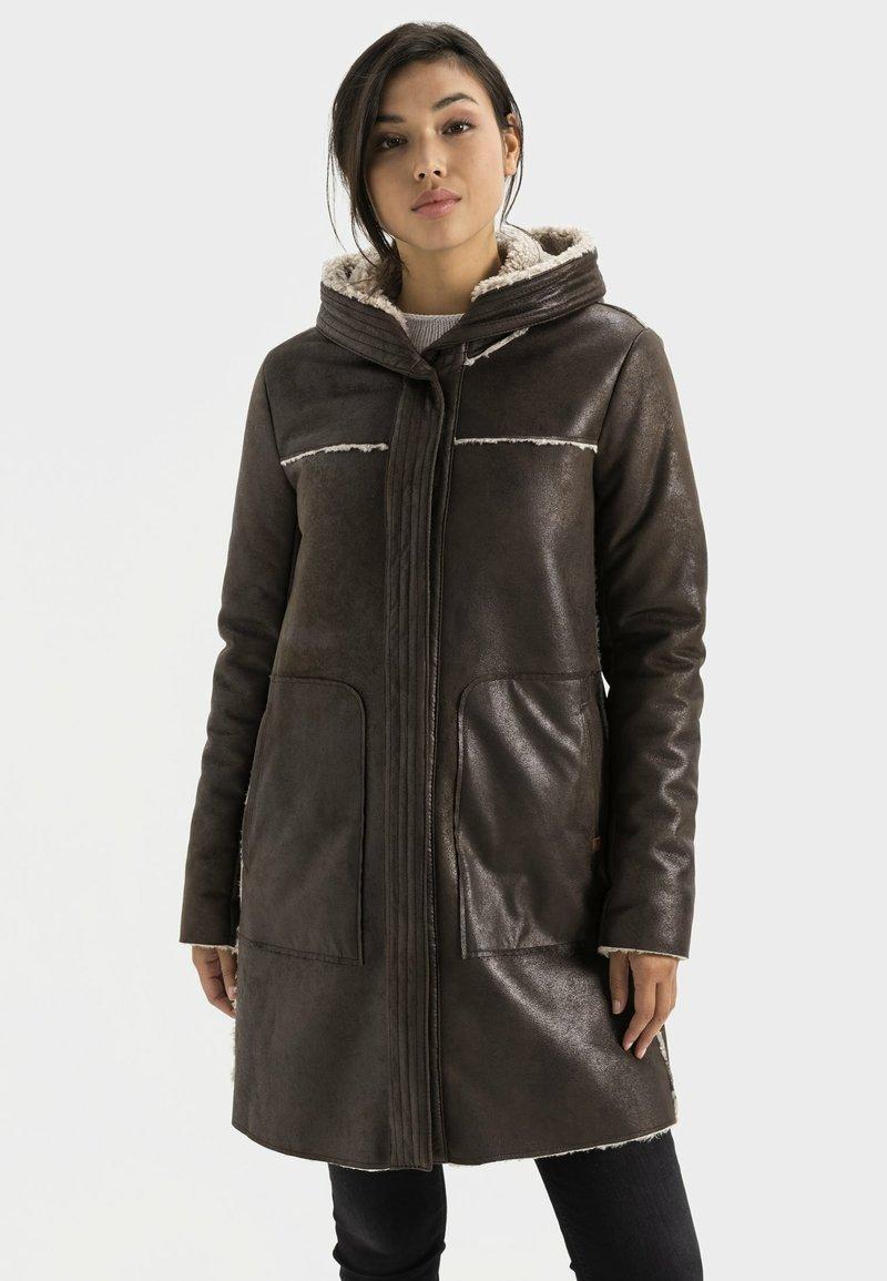 camel active - Short coat - dark brown
