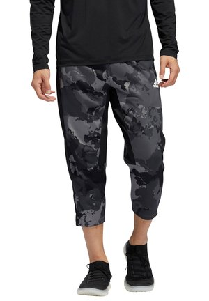 3/4 sports trousers - grau/schwarz