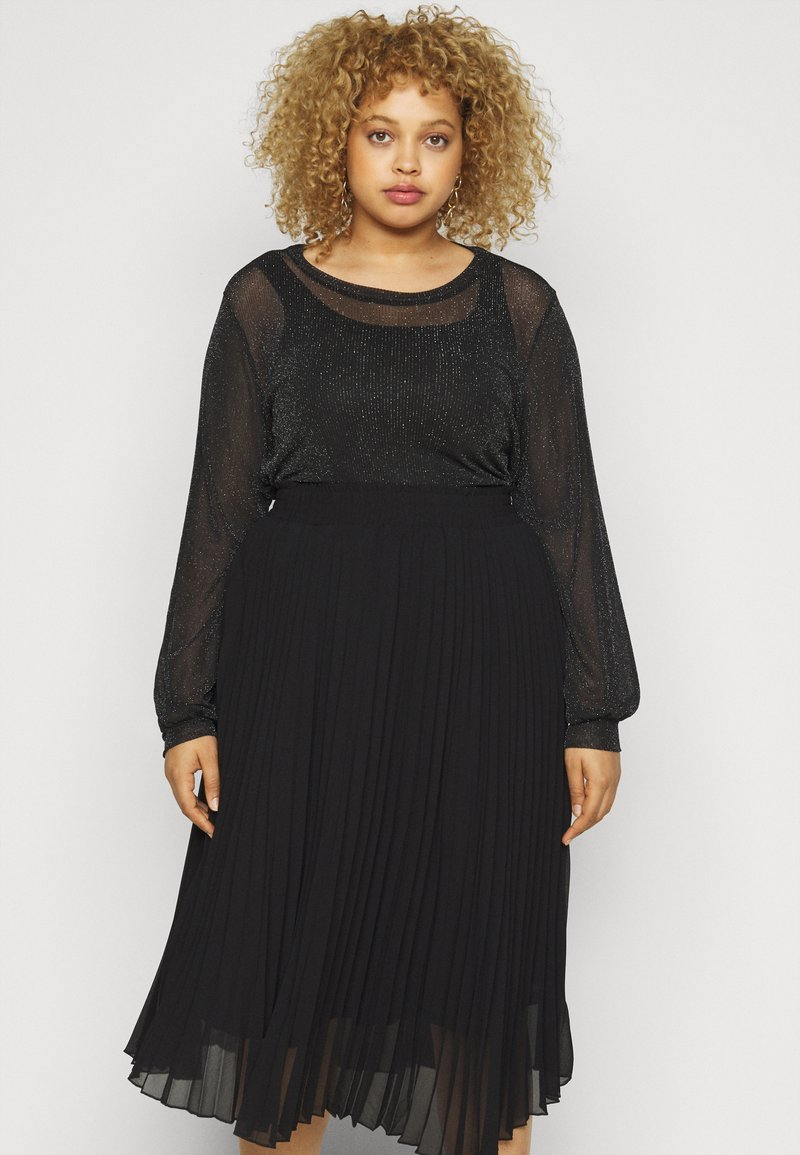 Pieces Curve - PCZUA  TOP CURVE - Long sleeved top - black
