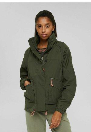 Soft shell jacket - dark khaki