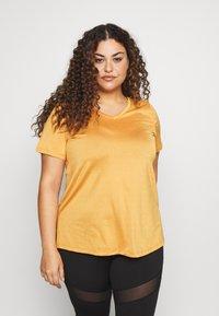 Active by Zizzi - AMAYS - Camiseta estampada - olden yellow - 0