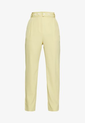 UTILITY BELT TAILORED TROUSERS - Trousers - lemon
