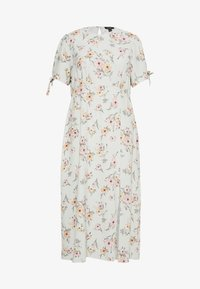 New Look Curves - POPPY FLORAL MIDI - Day dress - green - 0
