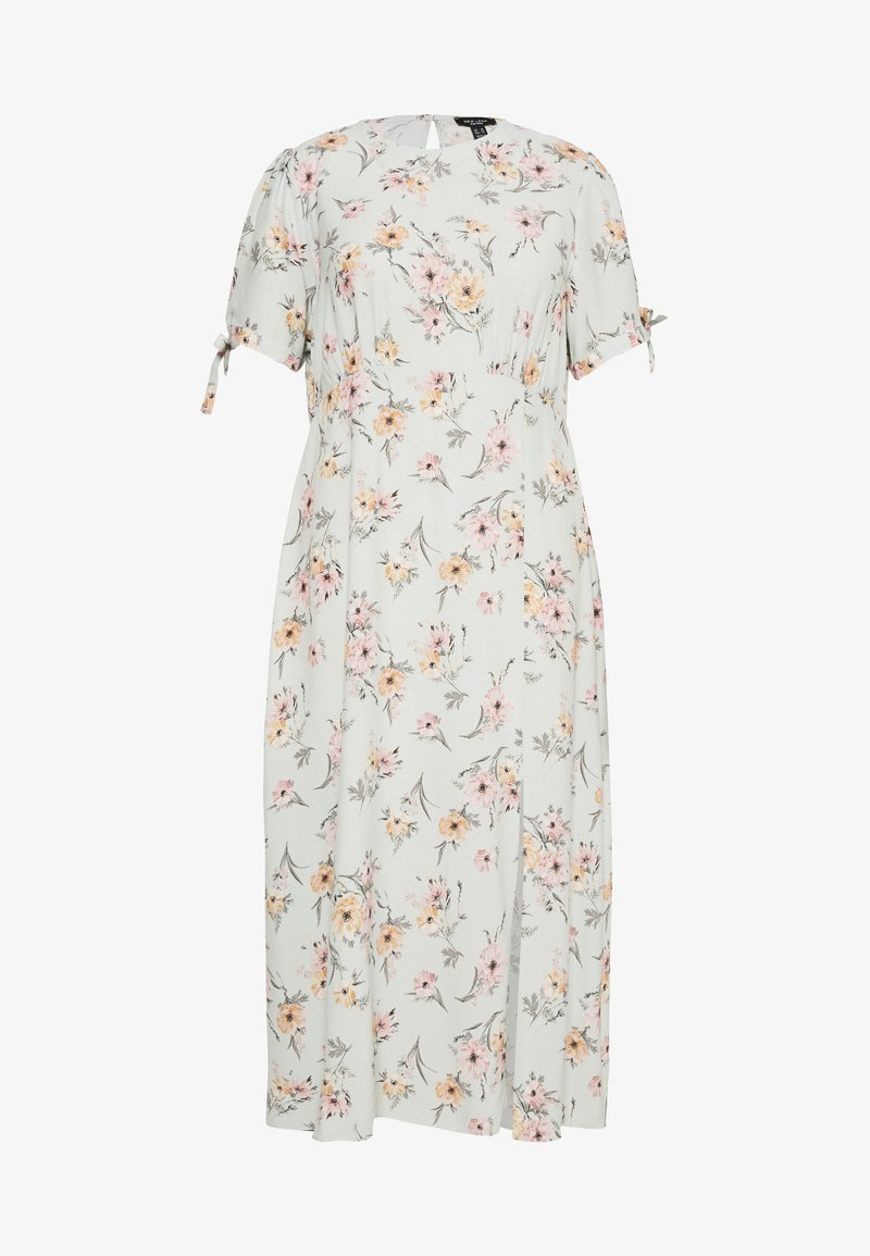 New Look Curves - POPPY FLORAL MIDI - Day dress - green