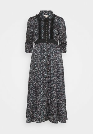 BUTTON DRESS - Shirt dress - dark blue