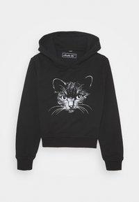 Mister Tee - KIDS CAT CROPPED HOODY - Hoodie - black - 0