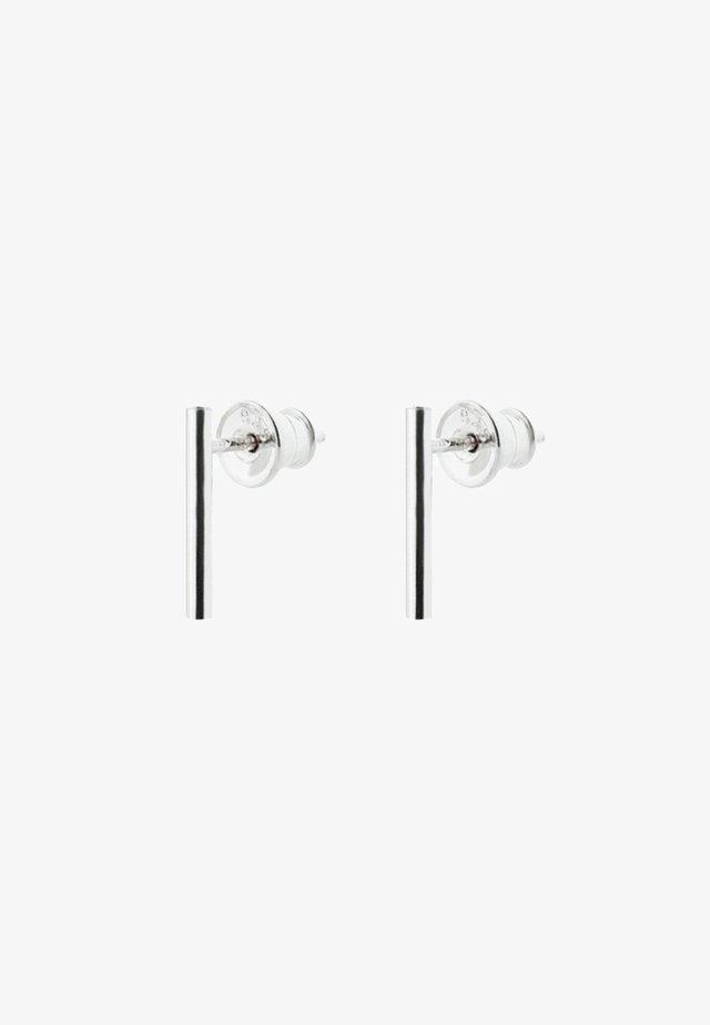 SHORT PIPE EARRINGS - Boucles d'oreilles - silver