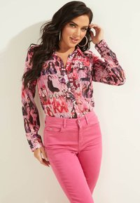 Guess - Button-down blouse - mehrfarbe rose - 0