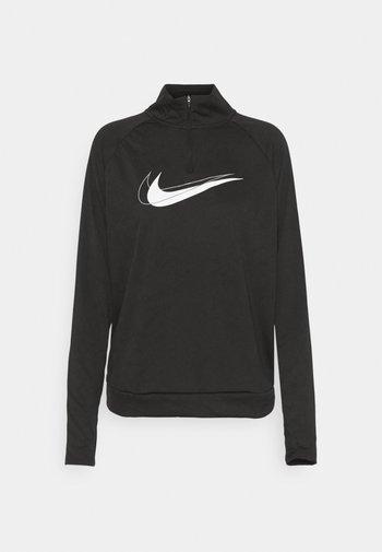 RUN - Long sleeved top - black/white