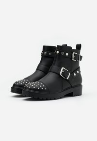 ONLY SHOES - ONLBAD STUD BOOT  - Cowboy/biker ankle boot - black - 2