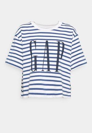 BOXY TEE - Print T-shirt - navy