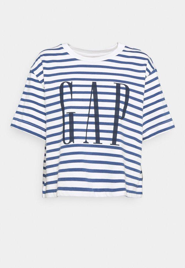 BOXY TEE - T-shirt print - navy