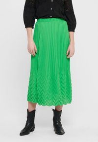 ONLY - MIDIROCK PLEATED - A-line skirt - kelly green - 0