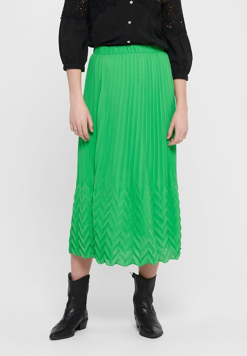 ONLY - MIDIROCK PLEATED - A-line skirt - kelly green