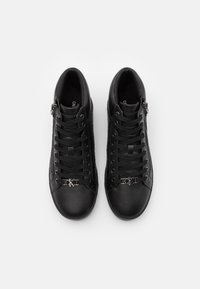 Calvin Klein Jeans - MID LACEUP ZIP  - High-top trainers - full black - 3