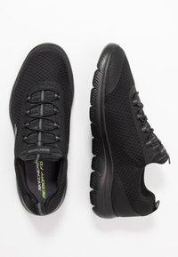 Skechers Sport - SUMMITS - Slip-ons - black - 1